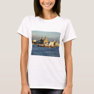 Mersey Ferry with the Liverpool Watefront beyond T-Shirt