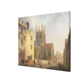 Merton College, Oxford, 1771 (oil on canvas) Canvas Print