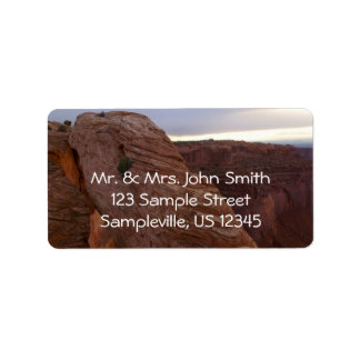 Mesa Arch II from Canyonlands National Park Address Label