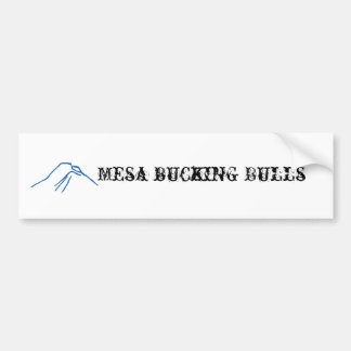 mesa bucking bulls bumper sticker