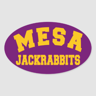 Mesa Jackrabbits Oval Sticker