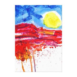 Mesa Roja Canvas Print