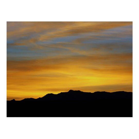 """Mesa Sunset"" Desert Photography Postcard"