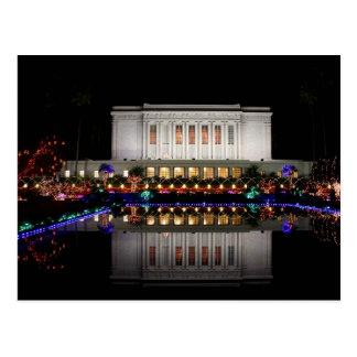 Mesa Temple reflection Postcard