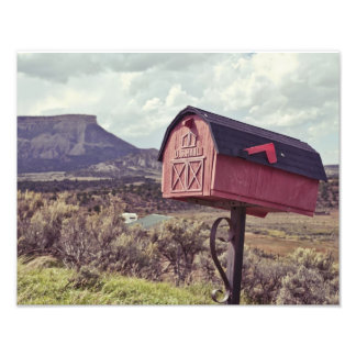 Mesa Verde and US Mail Box Photograph