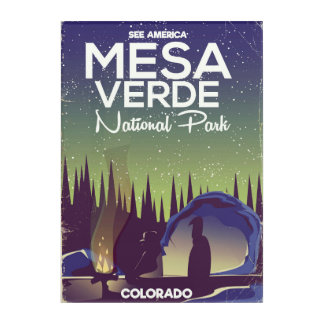 Mesa Verde National Park Camping travel poster Acrylic Print