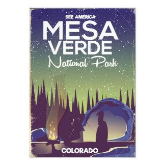 Mesa Verde National Park Camping travel poster Photo
