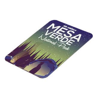 Mesa Verde National Park Camping travel poster Rectangular Photo Magnet