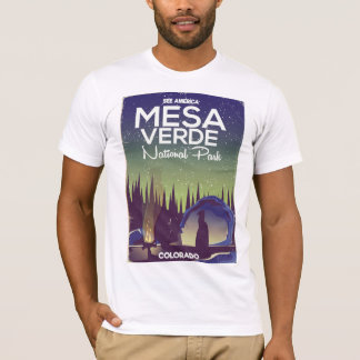 Mesa Verde National Park Camping travel poster T-Shirt