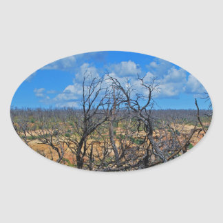 """""""Mesa Verde National Park"""" collection Oval Sticker"""