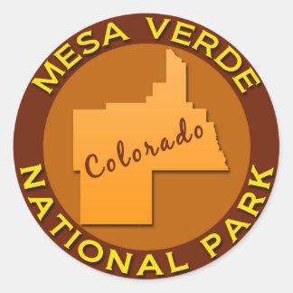 Mesa Verde National Park, Colorado Classic Round Sticker