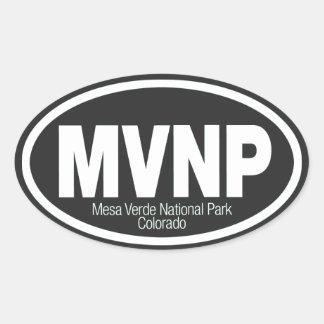 Mesa Verde National Park Oval Sticker