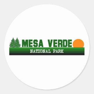 Mesa Verde National Park Round Sticker