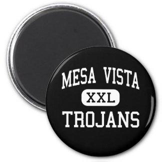 Mesa Vista - Trojans - High - Ojo Caliente 6 Cm Round Magnet