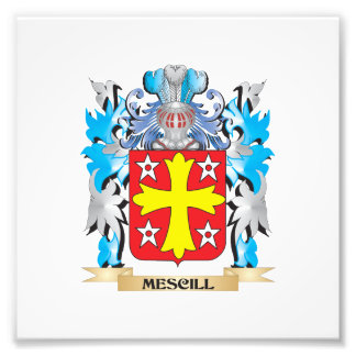 Mescill Coat of Arms - Family Crest Photographic Print