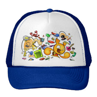Mesh Brain Helmet Trucker Hat