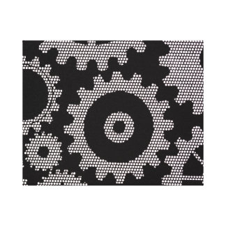 mesh gears wrapped canvas