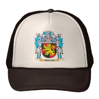 Meslin Coat of Arms - Family Crest Mesh Hat