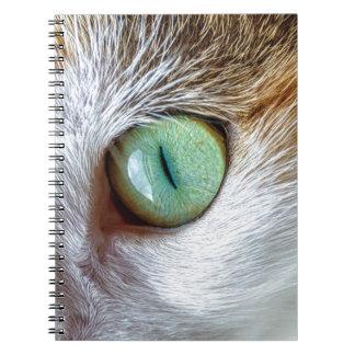 Mesmerizing Beautiful Green Cat's Eye Notebook