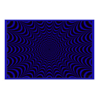 Mesmerizing Blue Night Trance Poster