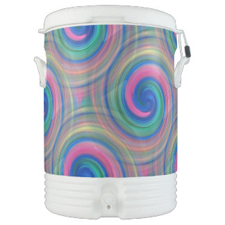 Mesmerizing classic swirl pattern with purple cooler