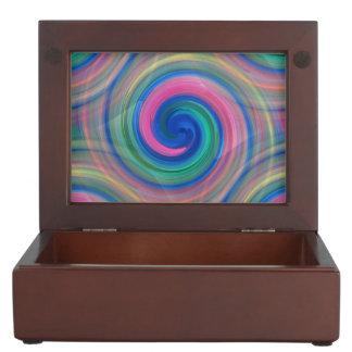 Mesmerizing classic swirl pattern with purple keepsake box