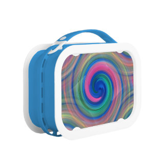 Mesmerizing classic swirl pattern with purple lunch box