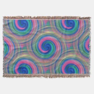 Mesmerizing classic swirl pattern with purple throw blanket