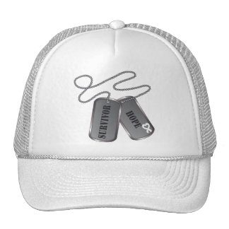Mesothelioma Cancer Survivor Hope Dog Tags Hats