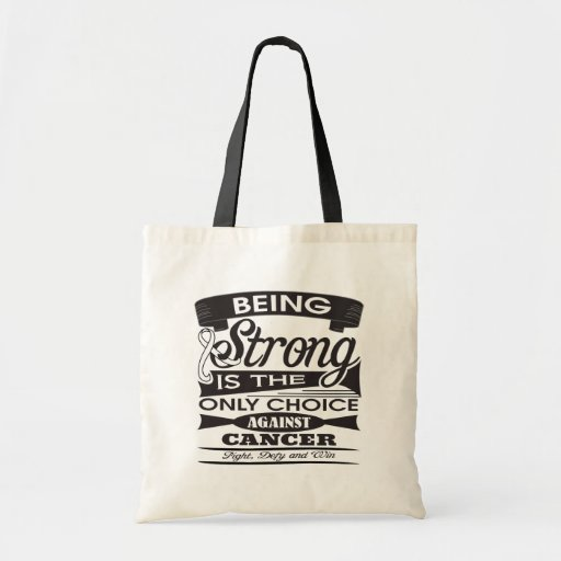 Mesothelioma Strong is The Only Choice Tote Bag