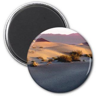 Mesquite Flat sand dunes Death Valley 6 Cm Round Magnet