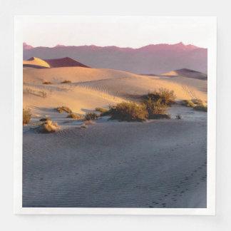 Mesquite Flat sand dunes Death Valley Disposable Napkin