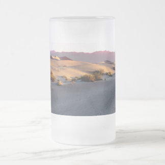 Mesquite Flat sand dunes Death Valley Frosted Glass Beer Mug