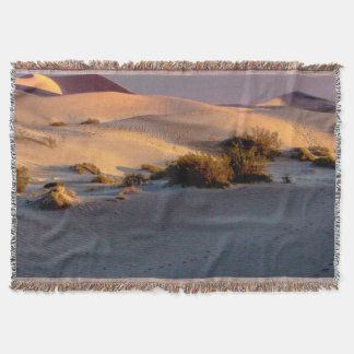 Mesquite Flat sand dunes Death Valley Throw Blanket