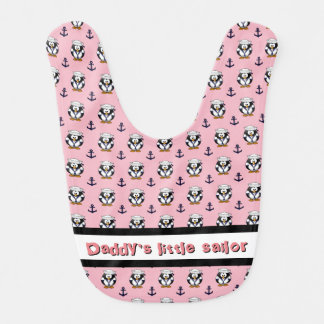 Mess Hall Gear - Sailor Penguin with Anchors Bib