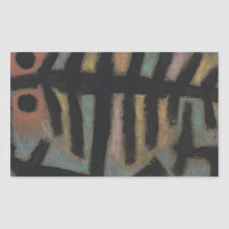 Mess of fish by Paul Klee Rectangular Sticker