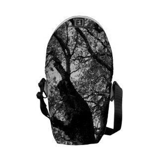 Message Bag - Black & White Image of Autumn Tree Courier Bags