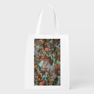 message case vegetable mix with chicken. reusable grocery bag