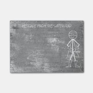 Message from Dad Father - Gray Stone Cement Hero Post-it Notes