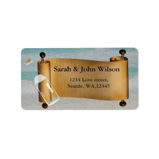 Message in a bottle Beach Wedding Label