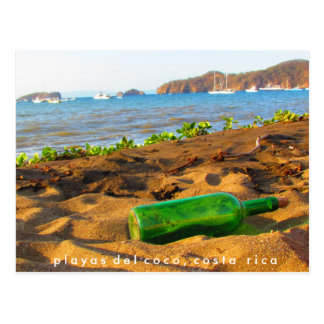 Message in a Bottle Playas del Coco, Costa Rica Postcard