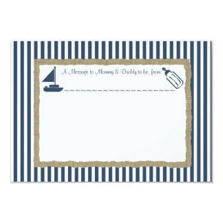 Message in A Bottle Sail boat Baby Shower Card