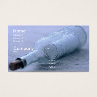 Message in the Sand Business Card