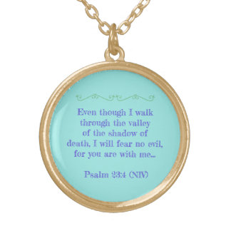 MESSAGE OF COMFORT AND COURAGE/ 23RD PALM NECKLACE