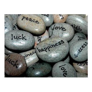 Message Stones Postcards