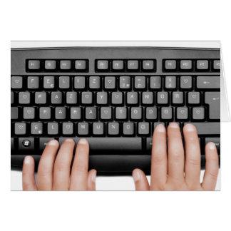messageFeliz Happy 2014 keyboard 2014 peace and Card