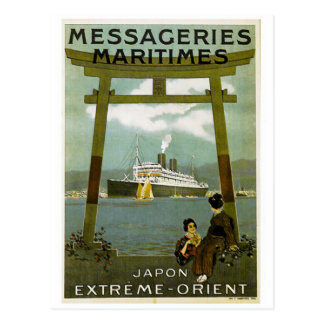 Messageries Maritimes Japon Extreme Orient Postcard