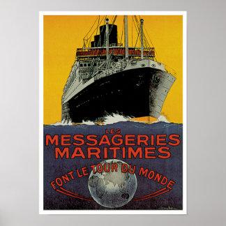 Messageries Maritimes Poster