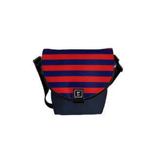 Messanger bag with Navy stripes Messenger Bags