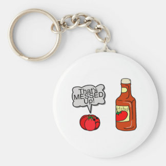Messed Up Ketchup Key Ring